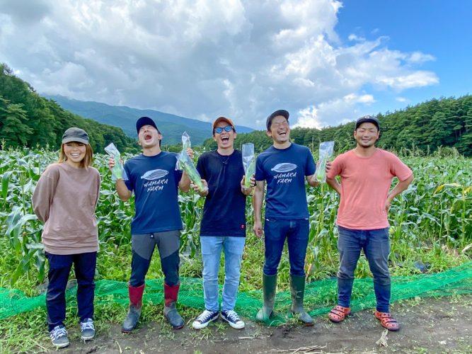<甘うぃ〜〜ねぇ!!>諏訪の国ブランド認定「八ヶ岳生とうもろこし」収穫にオリラジ藤森さんが来てくれました!